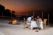 Candle light dinner on the beach? Let' surprise your loved one