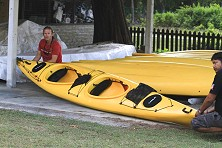 Plenty of kayaks available