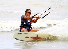 Winds vary from less than 10 to 20+ knots so bring a decent kite quiver for maximum watertime