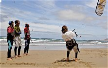 Covering the power zone with our kite-surfing class