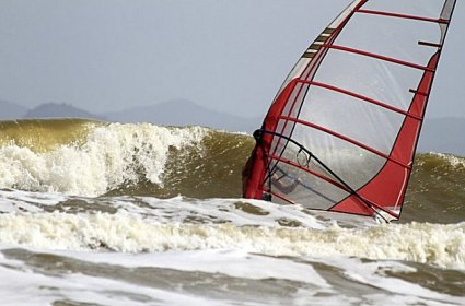 Hairy conditions make for awesome windsurfing
