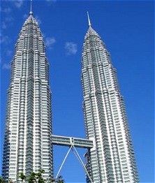 Petronas Towers, the tallest twin towers in the world