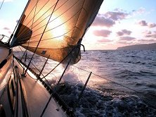 Gentle breezes and friendly seas make for easy sailing