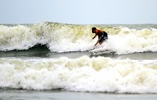 Exciting rides can be had in Tanjung Resang's shore-break