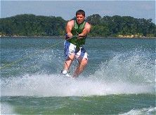 Sessions before lunch tend to be ideal for wakeboarding beginners' classes