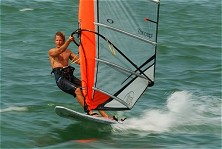 Wicked cross on-shore winds make for a thrill-a-minute slalom sessions